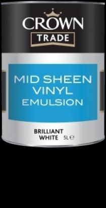 Crown Trade Mid Sheen Vinyl Emulsion (baza)