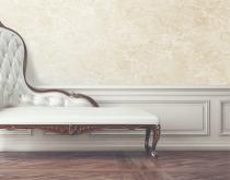 The beautiful vintage sofa